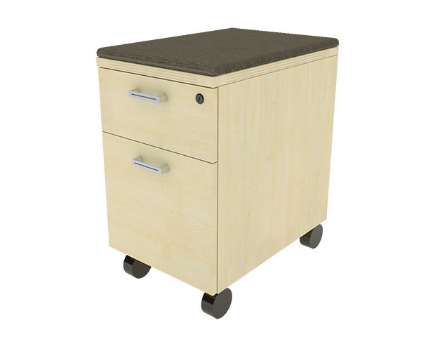 Wooden File Cabinet on Wheels