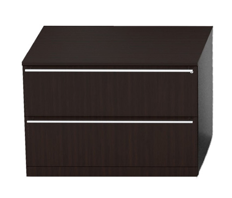 Dark Wood File Cabinet